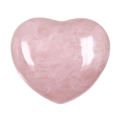 Rose Quartz Heart, (1 piece)