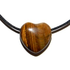 Tiger Eye Heart, Drilled