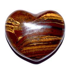 Tigereye-jasper Heart, 3,4 cm