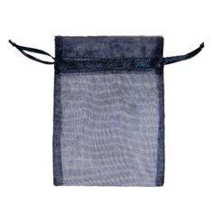 Organza Bag for Crystals, Dark Blue