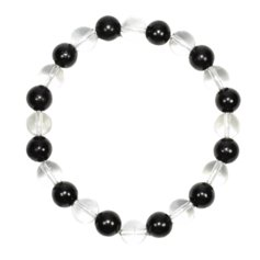 Shungite and Rock Crystal Bracelet