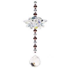 Kristallist lootosekujuline feng shui päikesepüüdja kristallkeraga