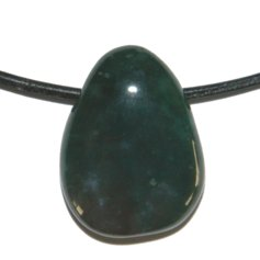 Green Chalcedony, Drilled