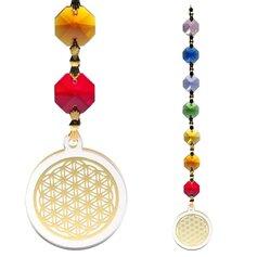 Kuldse elulille ja tšakrakristallidega feng shui päikesepüüdja