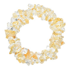 Citrine and Rock Crystal Chip Bracelet 3 in 1