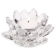 Kristall-lootosest küünlaalus