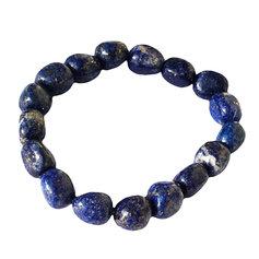 Lapis lazulist suuremate kivikestega käepael