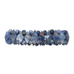 Sodaliidist rombikujuliste kividega käevõru