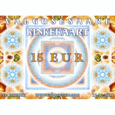 Valgusesaare kinkekaart 15 EUR