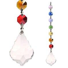 Kristallist harmoonialehekese ja tšakrakristallidega feng shui päikesepüüdja