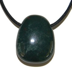 Bloodstone (Heliotrope), Drilled