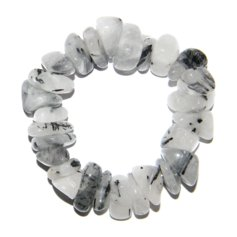 Tourmalinated Quartz Bracelet with Larger Stones