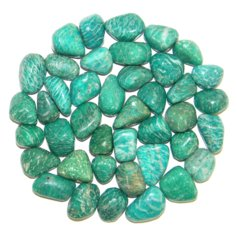 Amazonite dark, tumbled (1 piece)