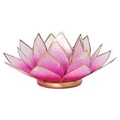 Lootoseõiekujuline küünlaalus, roosa