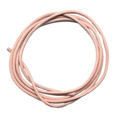 Leather string, natural (1 m)