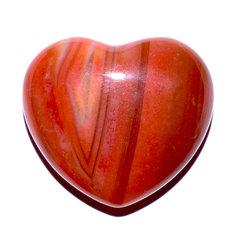 Karneoolist süda, 4,5 cm (1 tk)