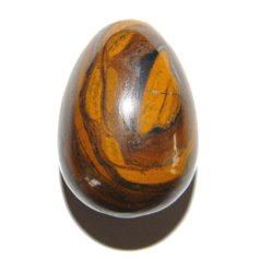 Tigereye-Jasper Egg, small