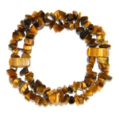 Tiger Eye Double Stranded Chip Bracelet
