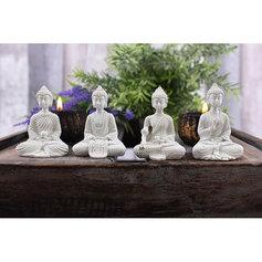 Väikesed valged Buddhad (4 tk)