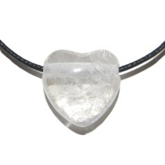 Rock Crystal Heart, Drilled