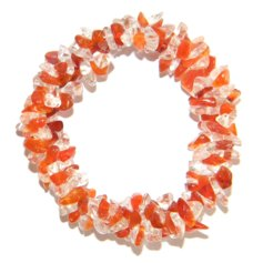 Carnelian and Rock Crystal Chip Bracelet 3 in 1