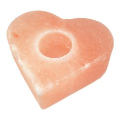 Himalayan Salt Heart, Tealight Holder