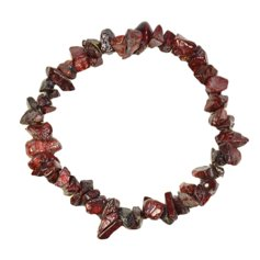 Tiger Iron-Jasper Chip Bracelet
