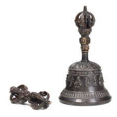 Tiibeti rituaalkell ja dordže (kõrgkvaliteetne)