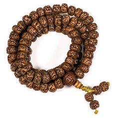 Lihvitud rudrakšapuu seemnetest palvehelmed (mala)