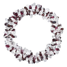 Garnet and Rock Crystal Chip Bracelet 3 in 1