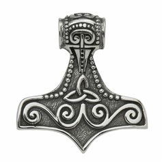 Thor's hammer pendant, small, STG Silver