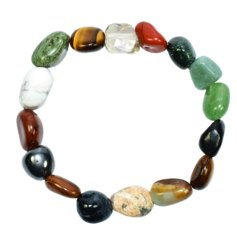 Different Stones Bracelet with Larger Stones
