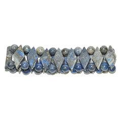 Lapis lazulist rombikujuliste kividega käevõru (1 tk)