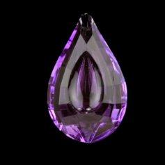 Kristallist piisakujuline feng shui päikesepüüdja, violetne