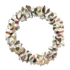 Tourmaline and Rock Crystal Chip Bracelet 3 in 1