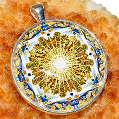 Kuldajastu kuvandi mandalaripats, suur