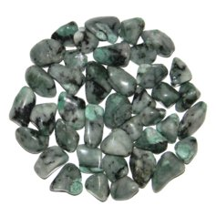 Emerald, tumbled (1 piece)
