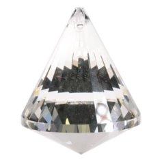 Kristallist koonusekujuline feng shui päikesepüüdja, läbipaistev