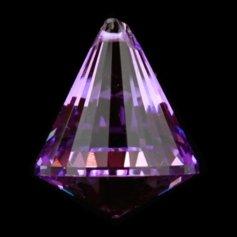 Kristallist koonusekujuline feng shui päikesepüüdja, lilla