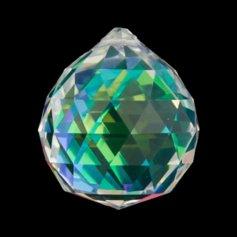 Kristallist kerakujuline feng shui päikesepüüdja, vikerkaarevärviline