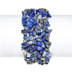 Lapis lazulist ehk lasuriidist põimitud käevõru