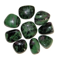 Ruby in Zoisite, tumbled (1 piece)