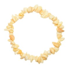 Yellow Jade Chip Bracelet